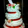 Wedding cake chantilly et fruits rouges